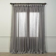EFF Signature Double Wide Grey Sheer Curtain Panel