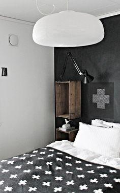 Crate mounted shelf and lamp. #home #furniture #homedecore #beautiful #carde #putdownyourphone #decore #cool #amazing