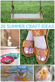 We've got 20 fun crafts you can make with friends, just as long as you have fun. Here are some summer crafts to cut the bore and beat the heat! Diy Projects For Teens, Diy For Teens, Crafts For Teens, Easy Diy Projects, Crafts To Make, Easy Crafts, Craft Projects, Summer Diy, Summer Crafts
