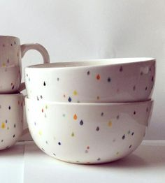 Raindrop bowls by Sprout Studio :: these make me so happy!