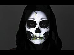 Scary #Skull Tutoorial : Best #Halloween Makeup Tutorial Videos and Pictures For Women