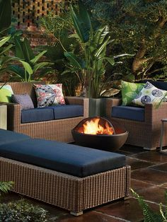 Piece together your perfect patio - fire pit included.