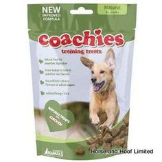 Coachies Natural Dog Treats 200g Coachies Natural are super tasty so your dog will love them Low in carbs they are kind to his waist but still packed full of good stuff