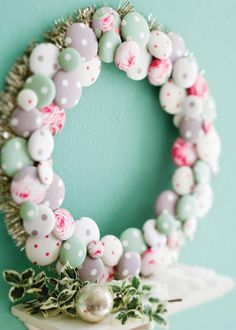 Vintage Charm Button Covered Wreath DIY