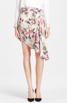 Free shipping and returns on Haute Hippie Asymmetrical Silk Georgette Skirt at Nordstrom.com. Watercolor blooms wash over a featherweight silk skirt that's cut to cascade dreamily to an asymmetrical hemline.