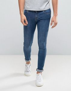 Dr Denim Dixy Muscle Fit Jeans Mid Blue - Blue