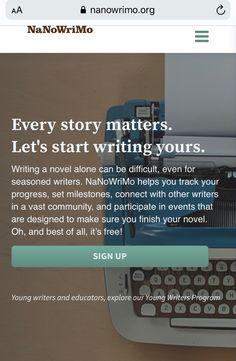 National Novel Writing Month, Start Writing, Writer, Novels, Let It Be, Writers, Authors, Fiction, Romance Novels