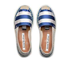 Acne Studios Bibiana stripe blue/white Espadrille slipper