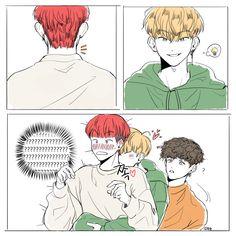 Twitter Seventeen Memes, Seventeen Woozi, Bts Korea, Kpop Drawings, Kpop Fanart, Boy Art, Anime Ships, Mingyu, Cute Art