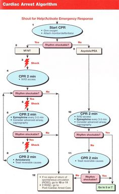 Cardiac arrest. Does anyone know the *original* published source of these flow charts?