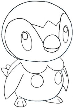 How To Draw Piplup From Pokemon With Easy Step By Drawing Lesson