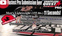 See Fastest Pro Submission Ever @WatchGrappling.com Brazilian Jiu Jitsu, Judo, Submission, Company Logo, Wrestling, Lucha Libre