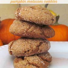 Gluten Free Pumpkin Molasses Cookies.