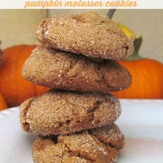 Gluten Free Pumpkin Molasses Cookies.