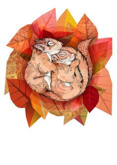 ● Squirrel Spoon // Commission ● - Sandra Dieckmann | Illustration