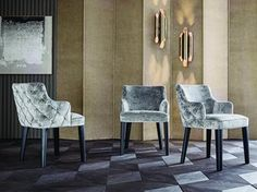 Tufted upholstered fabric chair ROYALE BACK CAPITONÉ - Casamilano