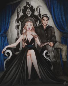 Feyre and Rhysand by MaraBarrow. ACOWAR. Sarah J Maas