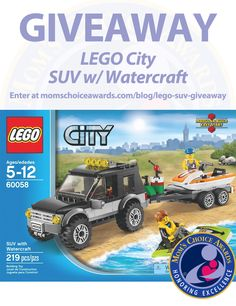 I entered to win a LEGO City SUV w/ Watercraft set in a @MomsChoiceAward #giveaway! Enter here: