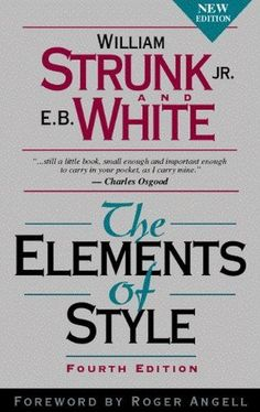 The Elements of Style von E. B. White http://www.amazon.de/dp/020530902X/ref=cm_sw_r_pi_dp_vaTFvb0TCXZKQ
