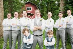 Do these men look amazing in their yellow ties or what? Farm Wedding, Rustic Wedding, Dream Wedding, Yellow Ties, Grey Yellow, Got Married, Getting Married, Cold Night, Special People