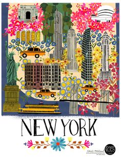 Nyc notebooks from paperchases travel collection featuring cities artwork anisa makhoul gumiabroncs Choice Image