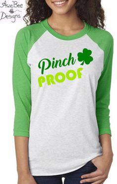 St. Patricks Day Shirt, Pinch Proof, Kiss Me I'm Irish Shirt, Love St. Patricks Day, Lucky Clover Shirt, Saint Patricks Day Shirt by AweBeeDesigns on Etsy