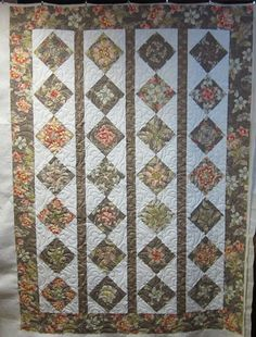 This is a very beautiful quilt, made by Rosemary.