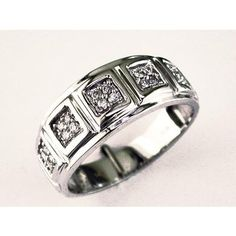 Men's Diamond Ring in 14K White Gold (TCW  .25).