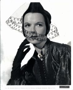 Louise Brooks, promotional portrait for King of Gamblers, 1937. Her scenes were later deleted from the film.