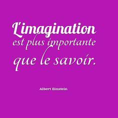 L'imagination est plus importante que le savoir. - Einstein