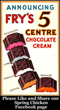 vintage Fry's Chocolate Cream sweets advert