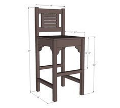 Ana White   Build a Vintage Bar Stool   Free and Easy DIY Project and Furniture Plans