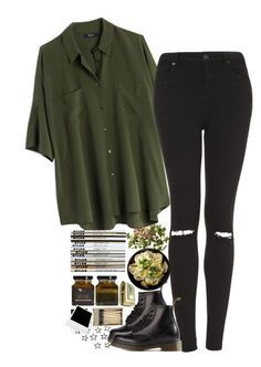 """""""Untitled #2390"""" by sisistyle ❤ liked on Polyvore featuring Madewell, Topshop and Dr. Martens"""