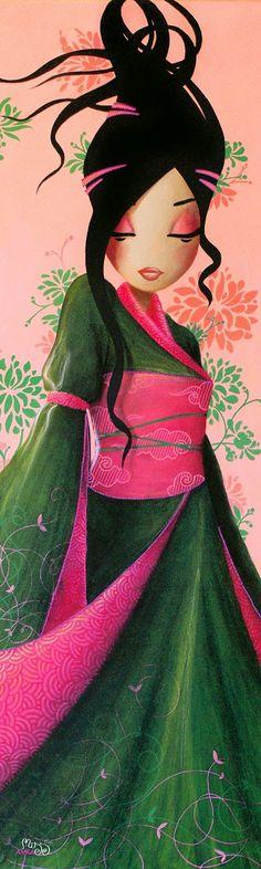 Kai Fine Art is an art website, shows painting and illustration works all over the world. Art Geisha, Geisha Kunst, Anime Yugioh, Anime Pokemon, Anime Plus, Anime W, Illustrations, Illustration Art, Anime Quotes Tumblr
