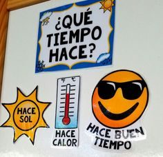 El Tiempo Spanish Weather Board Labels  Keep Spanish weather vocabulary visible and relevant year round with these labels for your white board, bulletin board, etc.