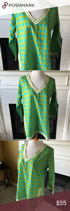 NWT Gretchen Scott Tunic The colors are so pretty in this beautiful tunic top! NWT; 100% cotton; Comes from a smoke & pet-free home! Gretchen Scott Tops Tunics