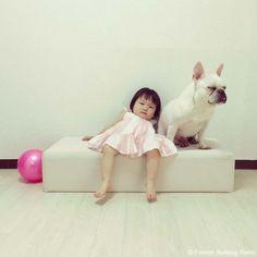 自由な二人❤️ #frenchbulldog #frenchie #dog #daughter #babygirl #フレンチブルドッグ #女の子自由な二人