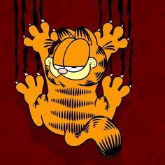 Garfield Wallpaper for iPad mini Cartoons Wallpapers Garfield Cartoon, Garfield And Odie, Garfield Comics, A Comics, Garfield Quotes, Cat Cartoons, 3d Cartoon, Garfield Wallpaper, Cat Wallpaper