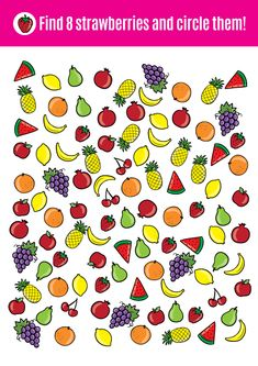 Fruit search game that teaches counting