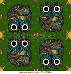 Stock Images similar to ID 32838505 - vector owl design