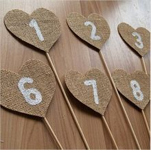 Fashion Wedding Baby Shower Event Party Supplies Vintage Decoration Elegant Jute Burlap Rustic Accessories Reception Table Card(China (Mainland))