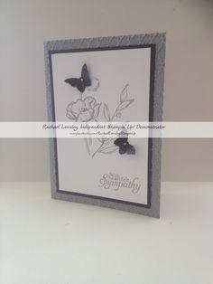 wisteria wonder sincere salutations swallowtail sympathy card my