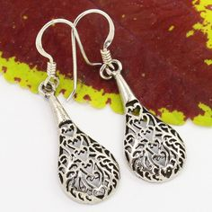 925 Solid Sterling Silver Designer Earrings PLAIN No Stones Wholesale Supplier #SunriseJewellers #DropDangle