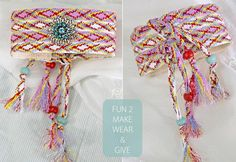 fun idea - could also use for knitted/crochet cuffs