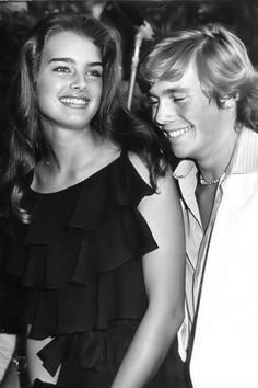 "Brooke Shields and Christopher Atkins at a ""Blue Lagoon"" premiere screening, 1980."