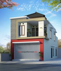 Best Two Storey House Plans Idea Two Story House Design, 2 Storey House Design, House Front Design, Independent House, Minimalist House Design, Minimalist Home, Home Building Design, Building A House, Style At Home