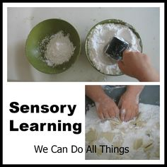Corn starch  we can do all things: Sensory Learning
