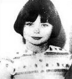 """The Sweet Face of Pure Evil. Child killer Mary Bell in 1968, aged 10. She strangled 4yr old Martin Brown and 3yr old Brian Howe reports had later said she returned to his body to carve an """"N"""" into his stomach with a razor; this was then changed using the same razor but with a different hand to an """"M"""". Mary Bell also used a pair of scissors to cut off some of Howe's hair, scratch his legs, and mutilate his penis."""
