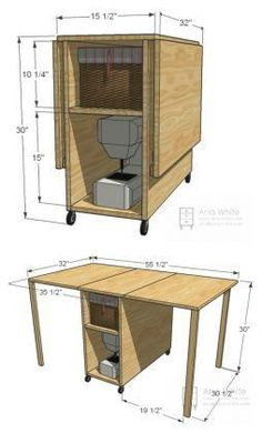 DIY Foldable Craft Table #woodworkingtable #WoodworkingProjects