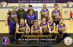 Life of Peg Basketball League - 2nd Place - Mance Financial Group